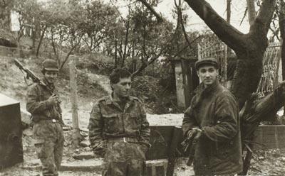 Попавший в плен абхазский солдат